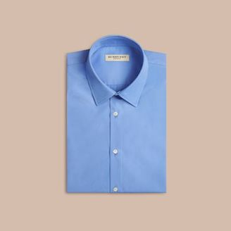 Burberry Modern Fit Short-sleeved Cotton Poplin Shirt $275 thestylecure.com