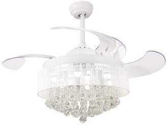 """House of Hampton 43"""" Broxburne Cool Light 4 Blade LED Ceiling Fan with Remote"""