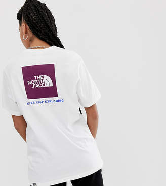 The North Face Red Box t-shirt in white/purple