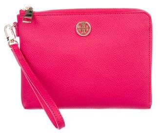 Tory Burch Textured Leather Wristlet