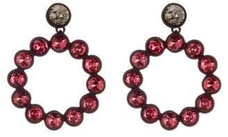 Trina Turk Rhinestone Hoop Earrings