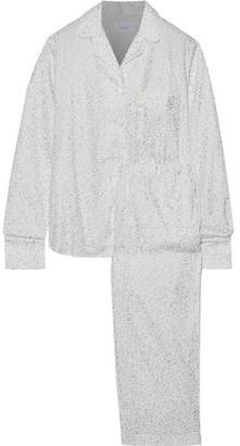 Three J NYC Etoile Metallic Printed Cotton-Flannel Pajama Set
