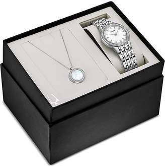 Bulova Women's Stainless Steel Bracelet Watch 32mm Gift Set