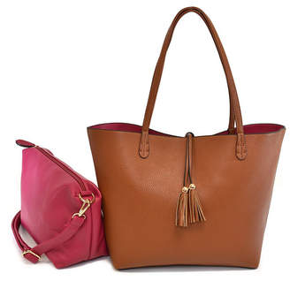 Imoshion Handbags Premium Vegan Leather Reversible Tote