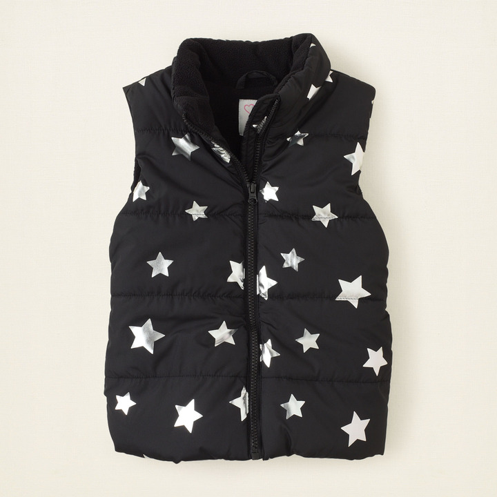 Children's Place Printed puffer vest