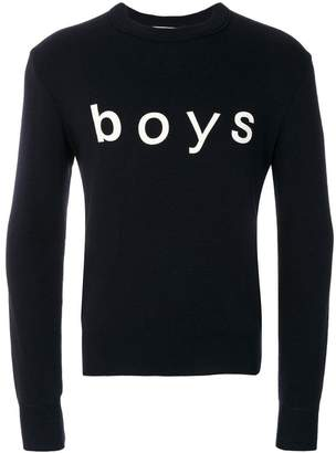Comme des Garcons Boys Boys print top