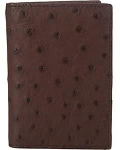 Barneys New York Men's Ostrich Card Case-Dk. brown