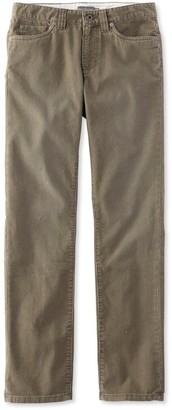 L.L. Bean L.L.Bean Men's Signature Washed Corduroy Pants, Slim Straight