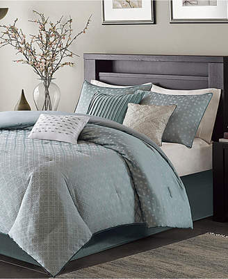Madison Park Biloxi 7-Pc. Geometric Jacquard King Comforter Set Bedding