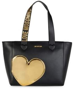 Love Moschino Gold Heart Shoulder Bag