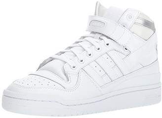 adidas Men's Shoes | Forum Mid Refined Sneakers White/Metallic Silver