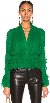 Alexis Eleni Top in Green | FWRD