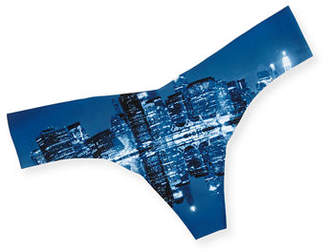 Commando Printed Microfiber Thong