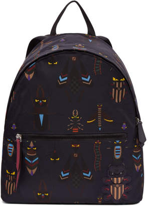 Fendi Blue 'Super Bugs' Backpack