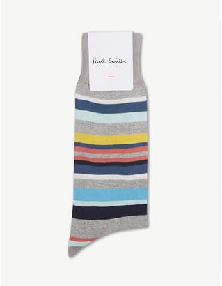 Paul Smith Multi-coloured stripe cotton-blend socks