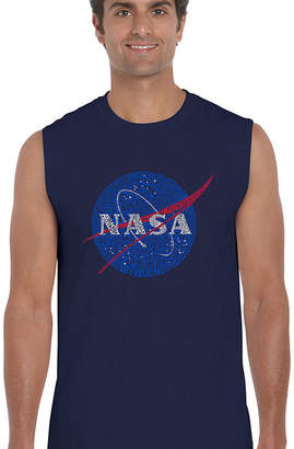 LOS ANGELES POP ART Los Angeles Pop Art Men's Word Art NASA's Most Notable Missions Sleeveless T-Shirt Big & Tall