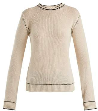 Marni Whipstitched Cashmere Sweater - Womens - White