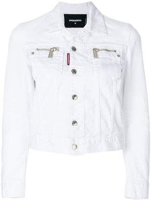 DSQUARED2 zipped pocket denim jacket
