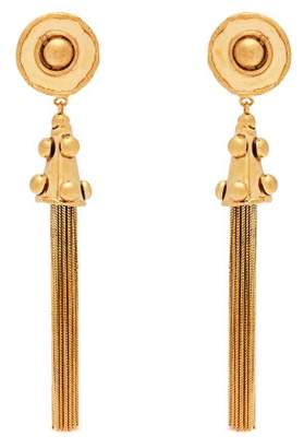Sylvia Toledano - Pompom Tassel Drop Clip On Earrings - Womens - Gold