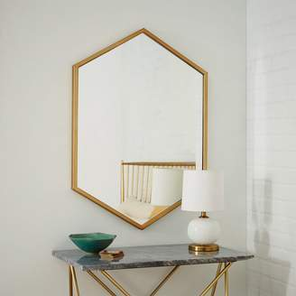 west elm Metal Framed Hexagon Mirror