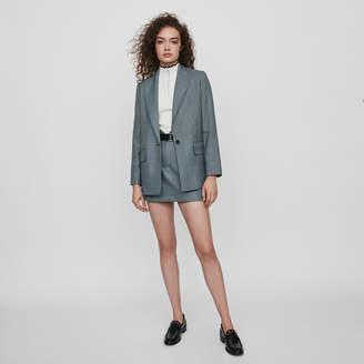 Maje Straight-cut plaid jacket