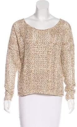Torn By Ronny Kobo Open-Knit Long Sleeve Sweater