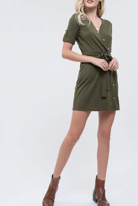 Blu Pepper Wrap Style Button Dress