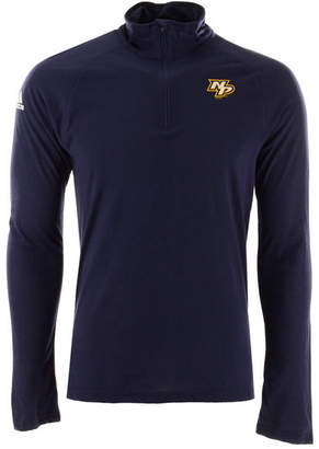 adidas Men's Nashville Predators Secondary Logo Climatelite Quarter-Zip Pullover