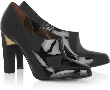 Stella McCartney Faux-leather patent booties