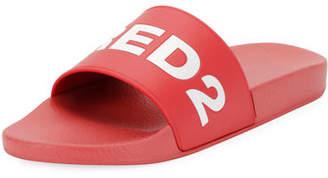 DSQUARED2 Logo Slide Sandals