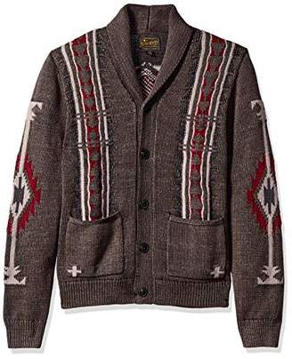 Lucky Brand Men's Washed Navajo Cardigan Sweater