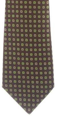 Kiton Geometric Print Woven Tie
