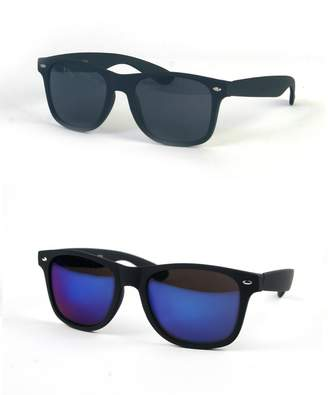 Pop Fashionwear Wayfarer Rubber Coated Soft Feel Spring Hinge Sunglasses P714 (2 pcs )