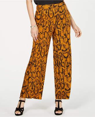 Thalia Sodi Animal Print Wide-Leg Pants
