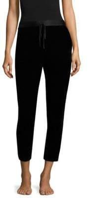 Natori Natori Women's Cropped Velvet Pants - Black - Size XS