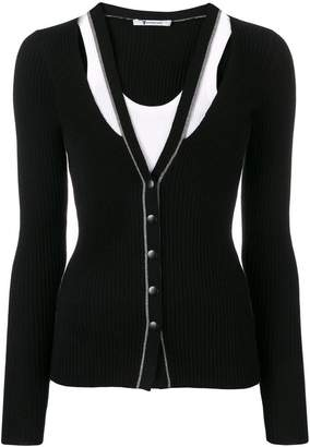 Alexander Wang layered fitted cardigan