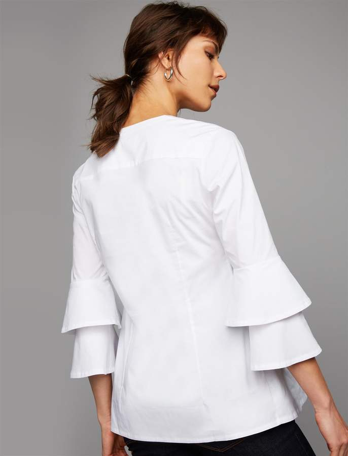Pea Collection Isabella Oliver Button Detail Maternity Blouse
