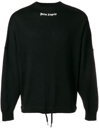 Palm Angels logo print sweatshirt