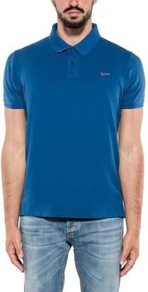 Woolrich Elettric Blue Stretch Polos