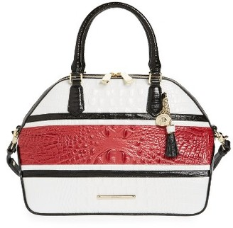 Brahmin Lovina Hudson Leather Satchel - Red $385 thestylecure.com