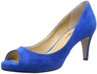 C'ast vague (セ ベージュ) - [セベージュ] C'ast vague オープントゥパンプス MKO-199A BLUE (BLUE/37.5)