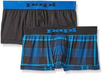 Papi Men's Cool 2-Pack Brazilian Plaid Trunk