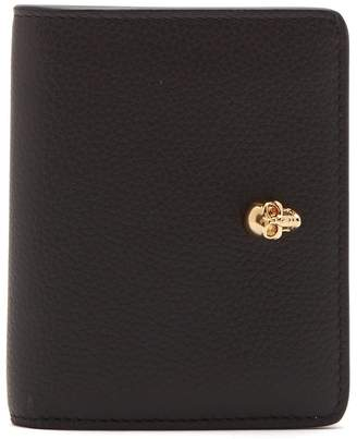 Alexander McQueen Skull-plaque grained-leather wallet