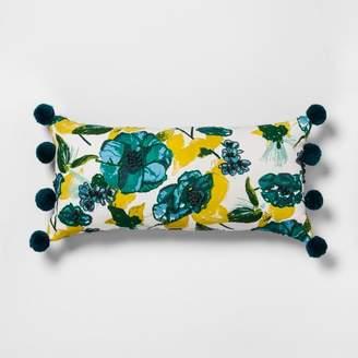 Opalhouse Lumbar Pillow Pom Floral