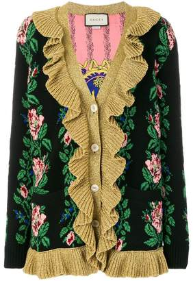 Gucci Intarsia Jacquard Flowers cardigan