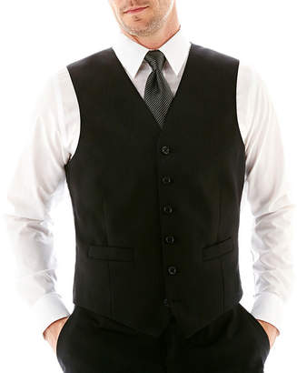 STAFFORD Stafford Executive Super 100 Wool Black Stripe Black Stripe Suit Vest - Classic