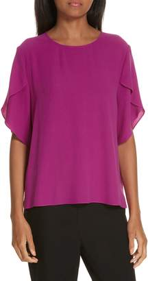 Eileen Fisher Tulip Sleeve Silk Top