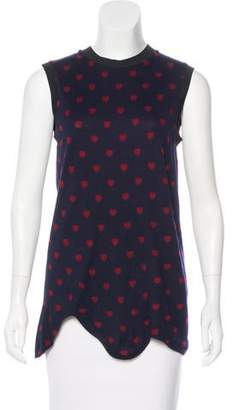 3.1 Phillip Lim Heart Print Sleeveless Top