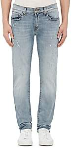 J Brand MEN'S TYLER DISTRESSED SLIM JEANS - LT. BLUE SIZE 38