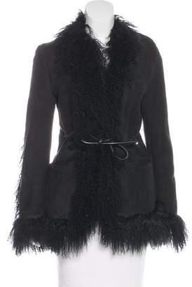 Gucci Suede & Shearling Coat